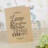 'Love Laughter' Kraft Wedding Thank You Cards