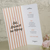 Inside of 'Love Love Love' Wedding Menu