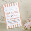 'Love Love Love' Wedding Save The Date Postcard Reverse Side