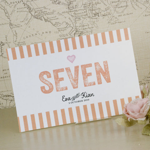 'Love Love Love' Wedding Table Name Cards