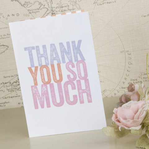 'Love Love Love' Wedding Thank You Cards