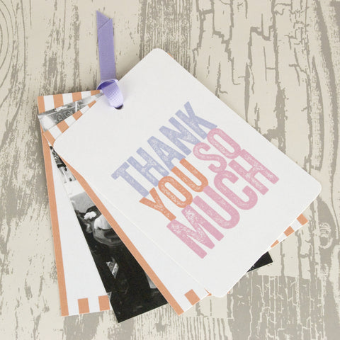 'Love Love Love' Wedding Thank You Card Tags