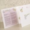 'Love The Bicycle' Tri-Fold Wedding Invitation, Showing Information Page and Perforated RSVP