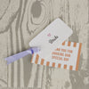 'Love Love Love' Wedding Place Name Tags with Grosgrain Ribbon