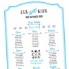 typographic wedding table plan