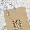 'Lucky Arrows' Wedding Thank You Card Tags with Twine