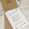 'Lucky Arrows' Wedding Thank You Card Tags, Showing The 'Promise'