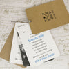 'Lucky Arrows' Wedding Thank You Card Tags, Showing The 'Thank You'