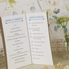 Centre Pages of 'Lucky Arrows' Wedding Order of Service