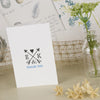 'Lucky Arrows' Ivory Wedding Thank You Cards