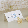 'Lucky Arrows' Wedding Place Name Cards on Ivory-Reverse Side