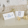 'Lucky Arrows' Wedding Place Name Cards on Ivory