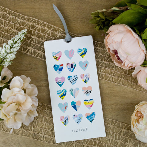 'Modern Heart' Wallet Wedding Invitation