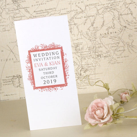 'Ornate Frame' Tri-Fold Wedding Invitation