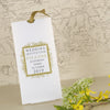 'Ornate Frame' Wallet Wedding Invitation in Gold
