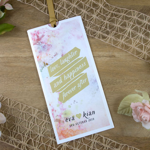 Pretty In Pastel Wallet Wedding Invitation
