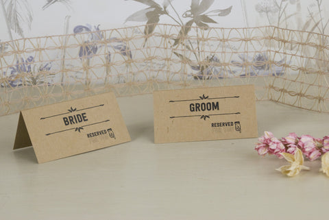'Sketch' Wedding Place Name Cards