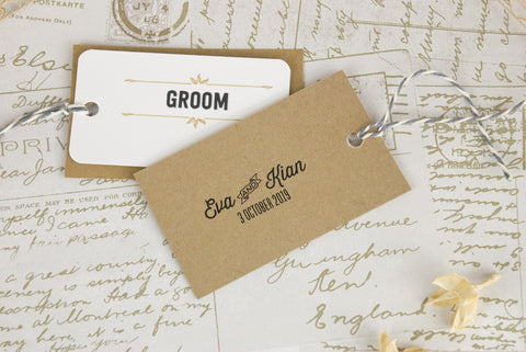 'Sketch' Wedding Place Name Tags