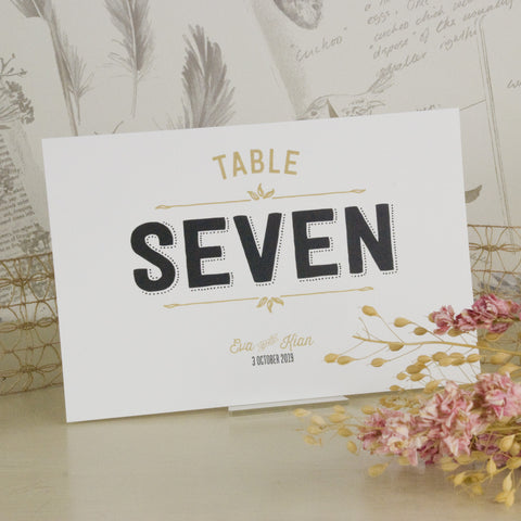 'Sketch' Ivory Wedding Table Name Cards