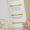 Close Up of Inside of 'Smile' Wedding Menu