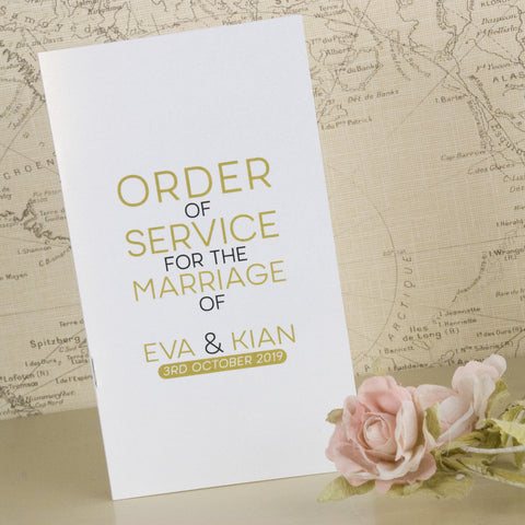 'Smile' Wedding Order of Service