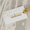 Reverse of 'Smile' Wedding Place Name Tags