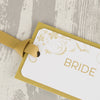 'Smile' Wedding Place Name Tags With Grosgrain Ribbon