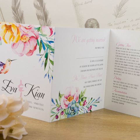 Tri Fold Wedding Invites Hadi Palmex Co