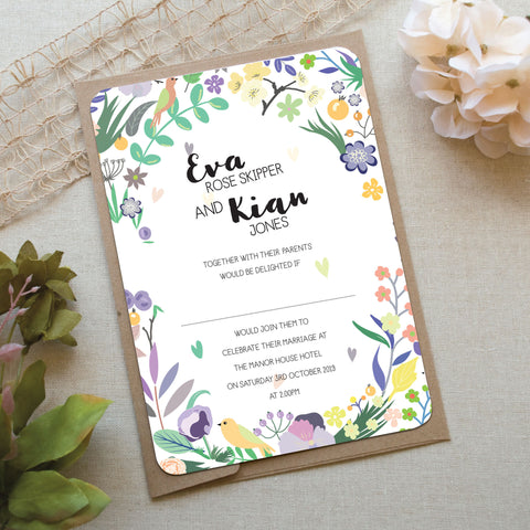 True Love Wedding Invitation
