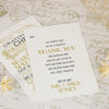 'Vintage' Ivory Wedding Thank You Postcards-Front and Reverse