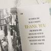 'Vintage' Ivory Wedding Thank You Cards-Inside Pages