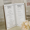 'Vintage Typography' Wedding Order of Service-Centre Page