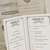 'Vintage Typography' Wedding Order of Service-Close Up of Centre Page