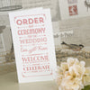 'Vintage Typography' Ivory Wedding Order of Service