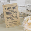 'Vintage Typography' Kraft Wedding Thank You Postcards