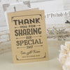 'Vintage Typography' Kraft Wedding Thank You Cards