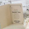 'Vintage Typography' Kraft Wedding Thank You Cards-Inside Pages