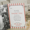 'Vintage Typography' Ivory Wedding Thank You Cards-Inside Pages