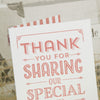 Close Up of 'Vintage Typography' Ivory Wedding Thank You Cards