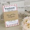 'Vintage Typography' Wedding Thank You Booklet Sleeve