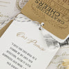 'Vintage' Wedding Thank You Card Tags Showing 'Our Promise' Page