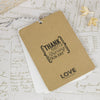 'Vintage' Wedding Thank You Card Tags-Reverse