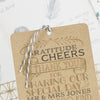 'Vintage' Wedding Thank You Card Tags with Twine