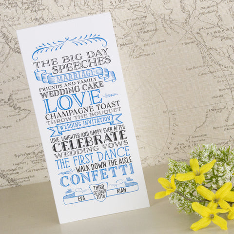 'Vintage' Tri-Fold Wedding Invitation