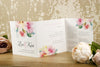 'Watercolour Bouquet' Wedding Invitation on Ivory Board Showing Inside Wording