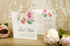 'Watercolour Bouquet' Wedding Invitation on Ivory Board