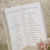 'Wordie' Wedding Order of Service-Centre Pages