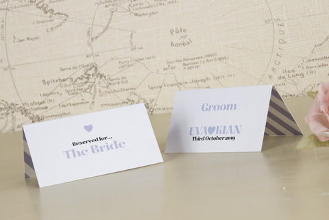 'Wordie' Wedding Place Name Cards