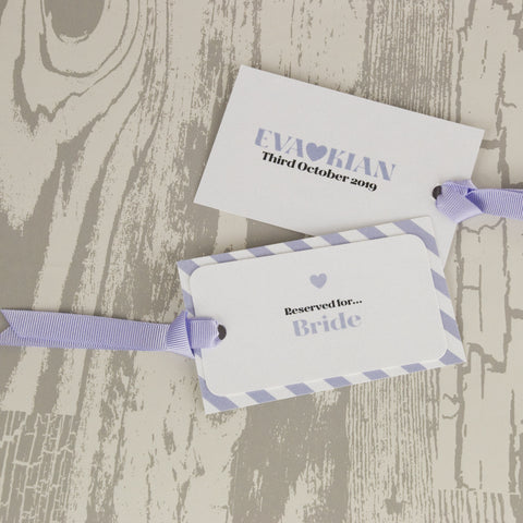 'Wordie' Wedding Place Name Tags
