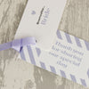 'Wordie' Wedding Place Name Tags Showing Wording on Second Tag
